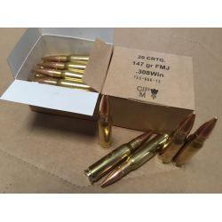 Cartouches GGG Cal. 308 WINCHESTER  147grs FMJBT - Caisse de 640 unités