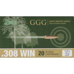 Cartouches GGG Calibre 308 WINCHESTER 168grs SIERRA MATCH - Boite de 20 unités