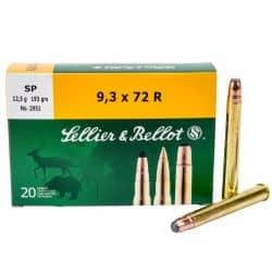 Cartouches SELLIER & BELLOT Calibre 9,3x72R 193grs SP - Boite de 20 unités