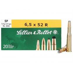 Cartouches SELLIER & BELLOT Calibre 6,5x52R 117grs SP - Boite de 20 unités