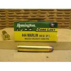 Cartouches REMINGTON Calibre 444 MARLIN SPCL 240grs - Boite de 20 unités