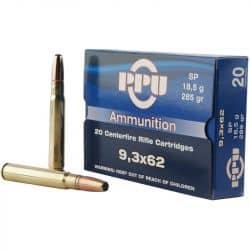 Cartouches PPU Calibre 9,3x62 SP 285grs - Boite de 20 unités