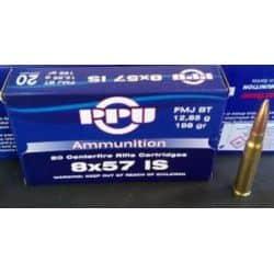 Cartouches PPU Calibre 8x57IS FMJBT 198grs - Boite de 20 unités