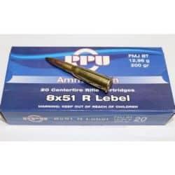 Cartouches PPU Calibre 8x51R LEBEL FMJBT 200grs - Boite de 20 unités