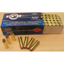 Cartouches PPU Calibre 44 MAGNUM SJFP 240grs - Boite de 50 unités