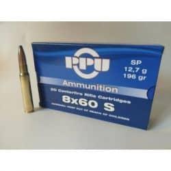 cartouches PPU 8x60S SP 196gr (12,7g)