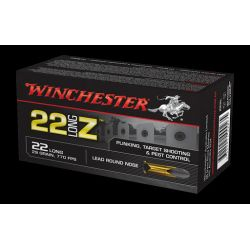 Cartouches WINCHESTER 22 LONG Z Calibre 22LR - Boite de 50 unités