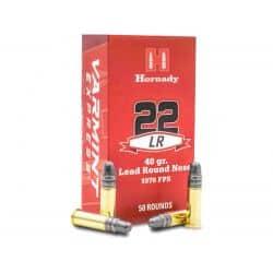 Cartouches HORNADY VARMINT Calibre 22LR - Boite de 50 unités