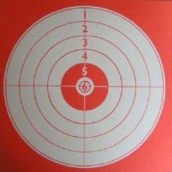 Cibles 14x14 rouge paquet de 1000
