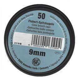 RWS 9mm BALLE CONIQUE par 50