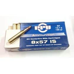 Cartouches PPU Calibre 8x57 IS SP - 196gr - 12,7g - Boite de 20 unités