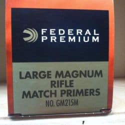 FEDERAL GM215M GOLD MEDAL LARGE RIFLE MAGNUM MATCH - Boite de 1000 unités