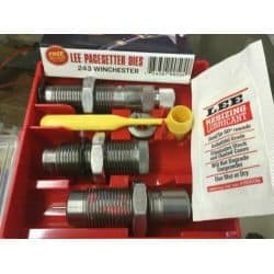 LEE PACESETTER DIE - 3 OUTILS - 243 WINCHESTER