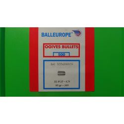 Ogives BALLEUROPE plomb Cuivre FCP 32 CN (.309) 85grs - Boite de 500 unités