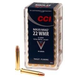 Cartouches CCI MAXI-MAG WMR Calibre 22LR - Boite de 50 unités