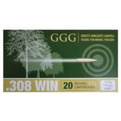 Cartouches GGG Cal. 308 175grs  - Boite de 20 unités