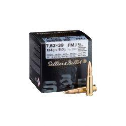 Cartouches SELLIER & BELLOT 7,62X39 124grs - Boite de 50 unités