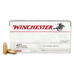 Cartouches 40 SMITH & WESSON  180gr - FMJ - WINCHESTER - Boite de 50 unités
