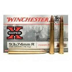 Cartouches WINCHESTER 9.3X74 POWER POINT 286grs - Boite de 20 unités