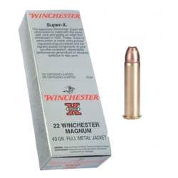 Cartouches WINCHESTER 22 MAGNUM Calibre 22LR - Boite de 50 unités