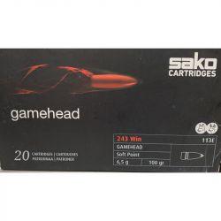 Cartouches SAKO GAMEHEAD 243 Win. Soft Point 100grs 113E - Boite de 20 unités