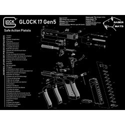 TAPIS DEMONTAGE GLOCK 17...