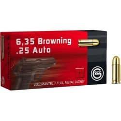 GECO 6,35mm BROWNING 49gr FMJ - Boîte de 50 unités