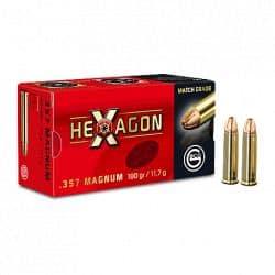 Cartouches GECO Calibre 357 HEXAGON 180grs - Boite de 50 unités